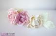 """Веточка с розами """"Ланком"""" шелк натуральный. Фото 1."""
