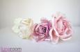 """Веточка с розами """"Ланком"""" шелк натуральный. Фото 2."""