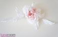 """""""Жози"""" роза белая, натуральный шелк. Фото 1."""