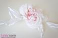 """""""Жози"""" роза белая, натуральный шелк. Фото 2."""