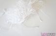 """""""Хризантема"""" шляпка с вуалью, шелк, белая. Фото 3."""