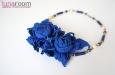 Колье с синими розами. Фото 1.