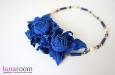 Колье с синими розами. Фото 2.