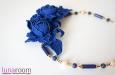 Колье с синими розами. Фото 3.