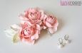 """Розы """"Мини"""" нат.шелк, розовый, 3 шт. Фото 1."""