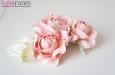 """Розы """"Мини"""" нат.шелк, розовый, 3 шт. Фото 2."""