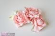 """Розы """"Мини"""" нат.шелк, розовый, 3 шт. Фото 3."""