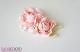 """Розы """"Мини"""" нат.шелк, розовый, 2 шт. Фото 2."""
