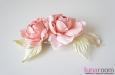 """Розы """"Мини"""" нат.шелк, розовый, 2 шт. Фото 4."""