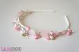 """""""Розовые сны"""" ободок с жемчугом и камнями. Фото 2."""