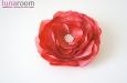 Роза из натурального шелка красная. Фото 1.