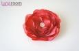 Роза из натурального шелка красная. Фото 2.