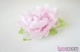 Пион, натуральный шелк, розовый. Фото 3.