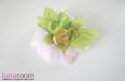 Пион, натуральный шелк, розовый. Фото 4.
