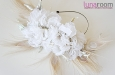 """""""Шарлиз"""" шляпка с розами и пером павлина. Фото 2."""