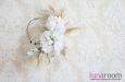 """""""Шарлиз"""" шляпка с розами и пером павлина. Фото 3."""