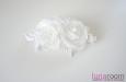 """""""Японская роза"""" гребень, шелк белый. Фото 3."""