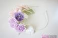"""""""Прованс"""" ободок с цветами. Фото 1."""