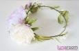 Венок для волос с розами и весенними цветами. Фото 2.