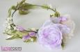 Венок для волос с розами и весенними цветами. Фото 3.