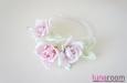 Ободок для волос с тремя розами. Фото 2.