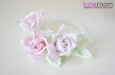 Ободок для волос с тремя розами. Фото 4.