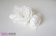 "Розы ""Belle"" натуральный шелк, белый. Фото 2."