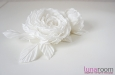 "Розы ""Belle"" натуральный шелк, белый. Фото 3."