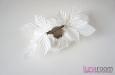 "Розы ""Belle"" натуральный шелк, белый. Фото 4."
