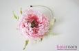 """Мак """"Самурай"""" шляпка, натуральный шелк, розовый. Фото 1."""