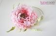 """Мак """"Самурай"""" шляпка, натуральный шелк, розовый. Фото 2."""