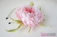 """Мак """"Самурай"""" шляпка, натуральный шелк, розовый. Фото 3."""