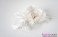 """""""Свадебный"""" гребень для волос, натуральный шелк. Фото 2."""