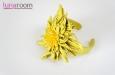 """""""Солнечная хризантема"""" браслет на руку, кожа. Фото 1."""