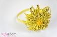 """""""Солнечная хризантема"""" ободок для волос, кожа. Фото 1."""