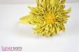 """""""Солнечная хризантема"""" ободок для волос, кожа. Фото 2."""