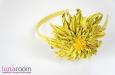"""""""Солнечная хризантема"""" ободок для волос, кожа. Фото 3."""
