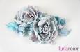 """Люси"" розы из шелка, заколка брошь. Фото 1."
