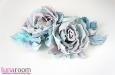 """Люси"" розы из шелка, заколка брошь. Фото 3."
