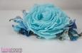 """""""Бесси"""" роза из шелка, брошь заколка. Фото 4."""