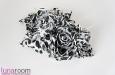 """Black and White"" шелковые розы. Фото 3."