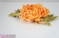 """""""Хризантема"""" заколка брошь, оранжевая. Фото 3."""
