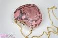 """""""Сердце"""" клатч из кожи питона, розовый. Фото 1."""
