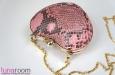 """""""Сердце"""" клатч из кожи питона, розовый. Фото 3."""