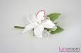 """""""Орхидея и незабудки"""" брошь. Фото 2."""