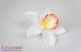 """""""Орхидея"""" брошь заколка, оранжевая. Фото 2."""