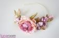 """""""Розовый сад"""" ободок для волос. Фото 3."""