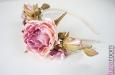 """""""Розовый сад"""" ободок для волос. Фото 4."""