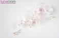 """""""Армин"""" украшение для прически с розовым жемчугом. Фото 2."""
