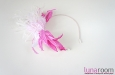 """""""Катрина"""" шляпка, ободок для волос, розовый. Фото 1."""